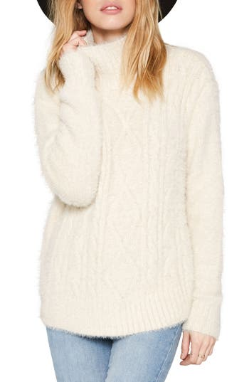 Amuse Society COOL WINDS CABLE KNIT SWEATER