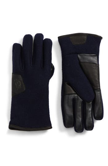 Ugg Wool Blend Tech Gloves, Blue