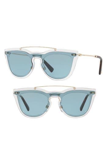 Women's Valentino 48Mm Retro Sunglasses - Grey
