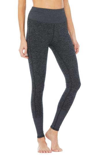 Women's Alo High Waist Lounge Leggings, Size Large - Grey -  adult