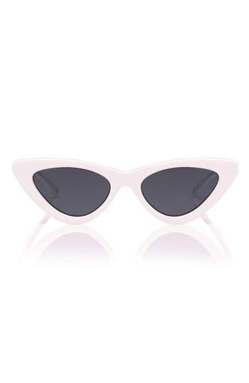 Unique Retro Vintage Style Sunglasses & Eyeglasses Womens Le Specs X Adam Selman Last Lolita 49Mm Cat Eye Sunglasses - $119.00 AT vintagedancer.com