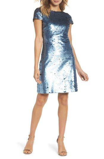 Sam Edelman Sequin Sheath Dress, Blue