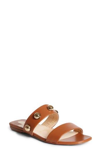 Women's Christian Louboutin Simple Bille Ornament Slide Sandal, Size 7.5US / 37.5EU - Brown