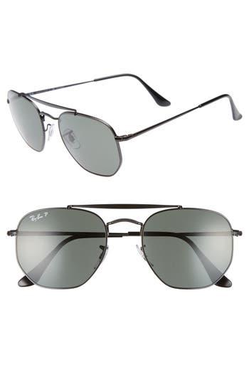 Ray-Ban Marshal 5m Polarized Aviator Sunglasses - Black Polarized