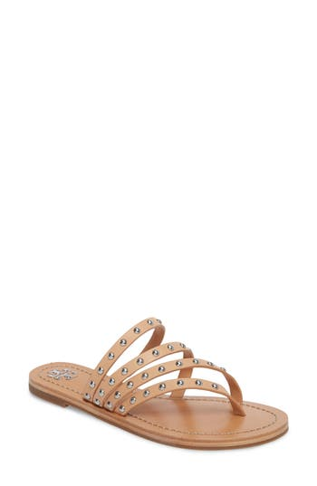 Tory Burch Patos Studded Thong Sandal, Beige