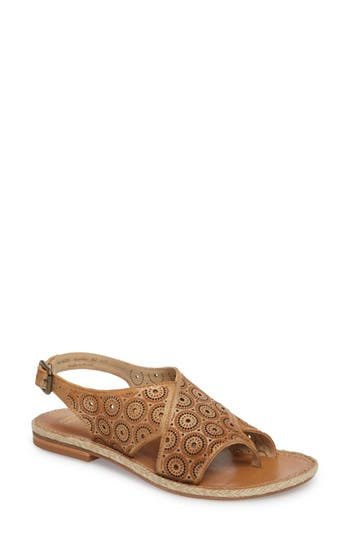 Johnston & Murphy Willow Flat Sandal, Metallic