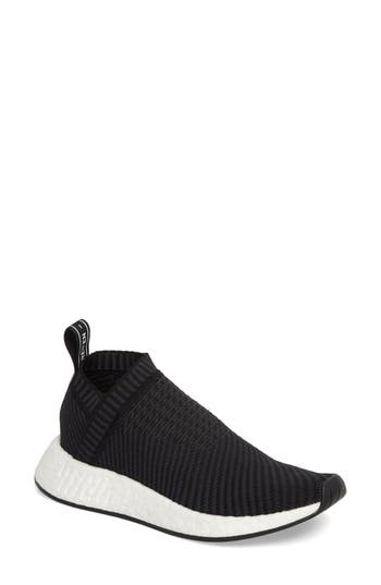 Nmd Cs2 Primeknit Sneaker in Core Black Carbon Red