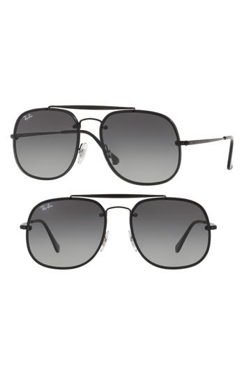 Ray-Ban Blaze 5m Aviator Sunglasses - Black