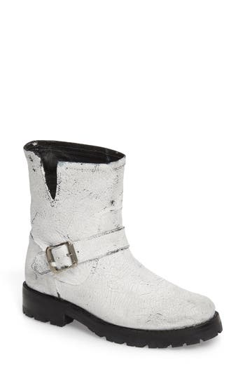 Frye Natalie Engineer Boot- White