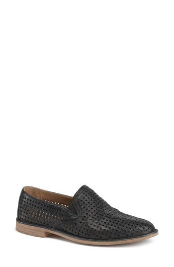 Trask Ali Perforated Loafer, Black