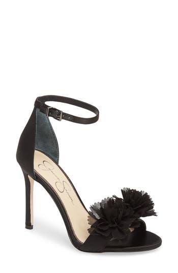 Jessica Simpson Jeena Embellished Ankle Strap Sandal- Black