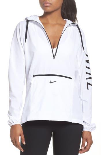 Nike Flex Packable Hooded Training Jacket, White
