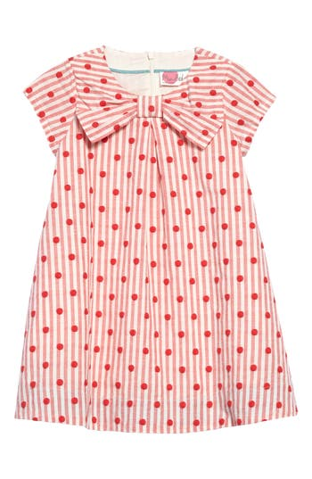 Kids 1950s Clothing & Costumes: Girls, Boys, Toddlers Toddler Girls Mini Boden Spotty Bow Dress Size 3-4Y - Red $31.20 AT vintagedancer.com
