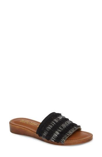 Women's Bella Vita Abi Slide Sandal, Size 9.5 W - Black