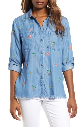 Billy T LACED BACK BUTTON UP SHIRT