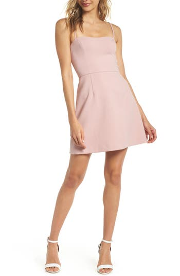 French Connection Whisper Light Sweetheart Minidress, Beige