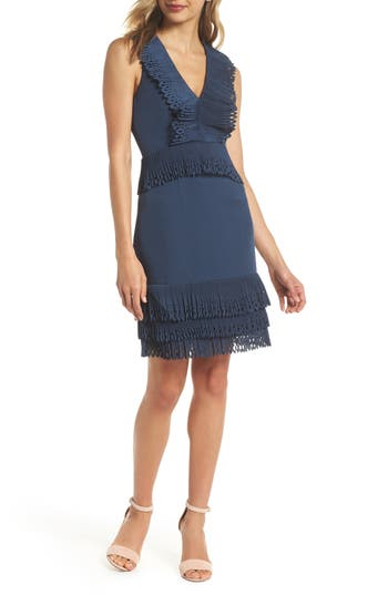 Keepsake The Label Moonlighters Cocktail Dress, Blue