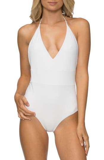 Tavik Chase One-Piece Swimsuit, White