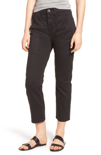 Hudson Jeans The Leverage Ankle Cargo Pants, Black