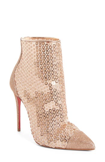 Christian Louboutin Gipsy Sequin Bootie, Beige