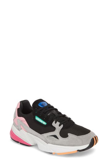 low priced 29eaf 05376 Adidas Originals WomenS Falcon Color-Block Lace Up Sneakers In Black Black  Light