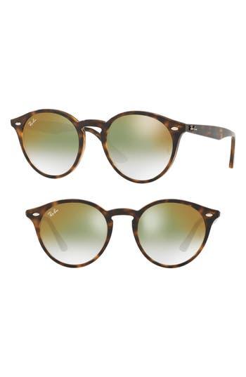 Ray-Ban Highstreet 51Mm Round Sunglasses - Havana Gradient Mirror