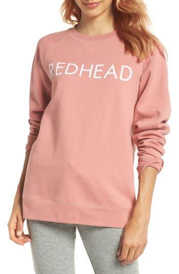 Brunette The Label Redhead Crewneck Sweatshirt, Coral