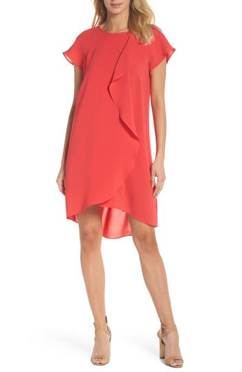 Adrianna Papell Crepe Shift Dress, Pink