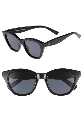 Le Specs Wannabae 4m Angular Sunglasses - Black