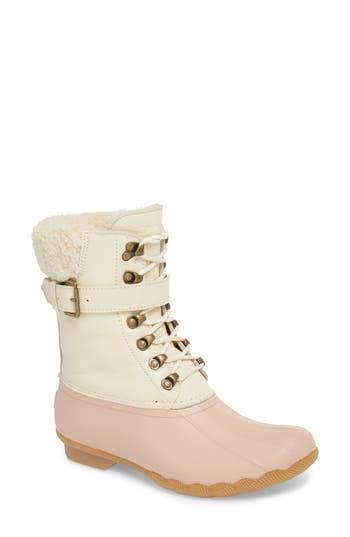 Sperry Shearwater Water-Resistant Genuine Shearling Lined Boot, Pink