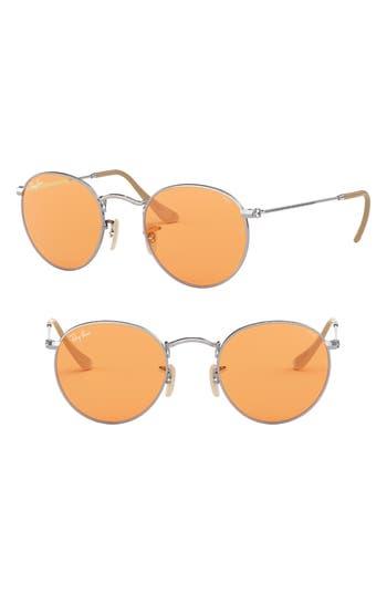 Ray-Ban 50Mm Retro Inspired Round Metal Sunglasses - Orange