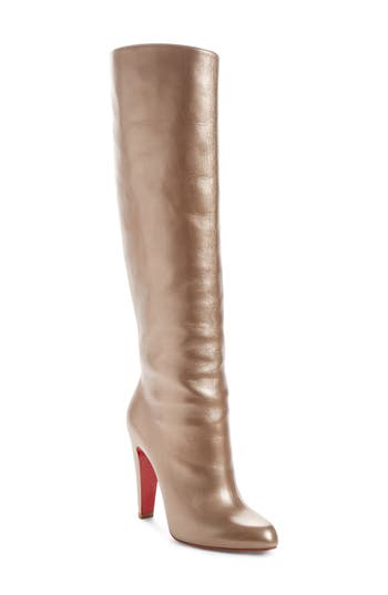 Christian Louboutin Knee-High Boot, Metallic