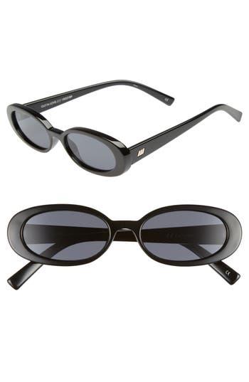 Le Specs Outta Love 4m Cat Eye Sunglasses - Black