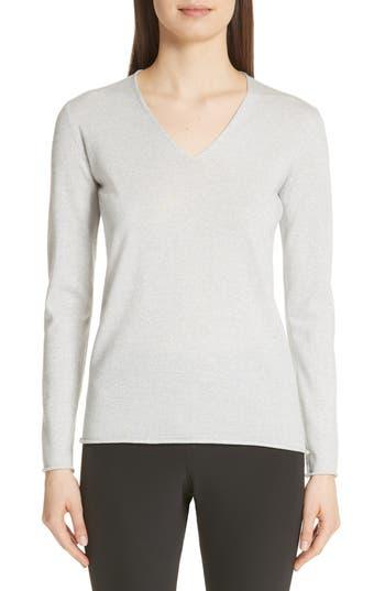 Fabiana Filippi Metallic Wool Blend Sweater, 8 IT - Grey