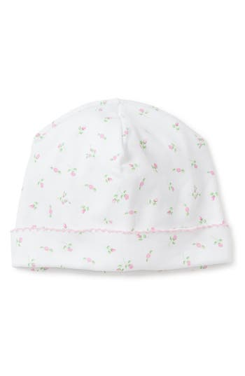 Infant Kissy Kissy Garden Print Beanie Hat - White