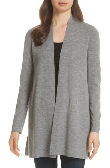 Eileen Fisher Merino Straight Long Cardigan, Grey