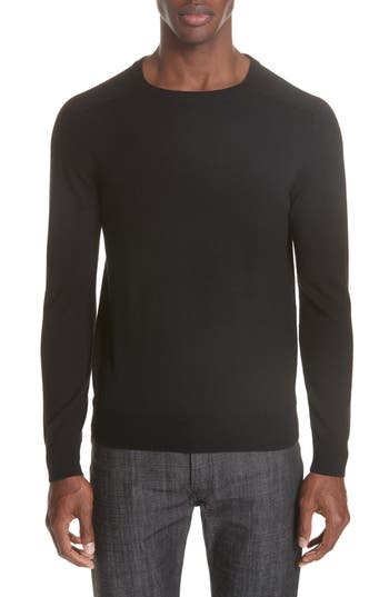 A.p.c. Logan Merino Wool Crewneck Sweater, Black