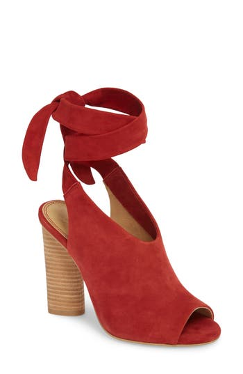 Splendid Navarro Ankle Wrap Sandal, Red