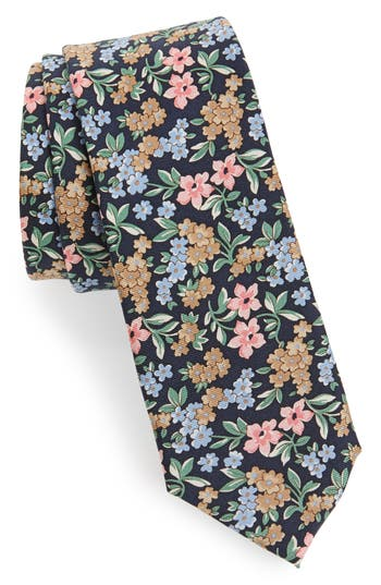 1960s Men's Ties   Skinny Ties, Slim Ties Mens 1901 Cassidy Floral Silk Skinny Tie $39.50 AT vintagedancer.com