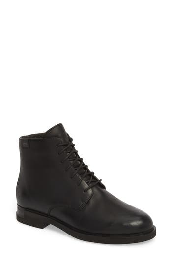 Camper Helix Lace-Up Bootie, Black