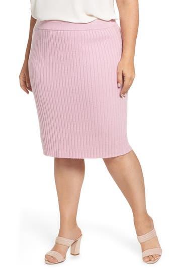 Plus Size Leith Rib Knit Skirt, Purple