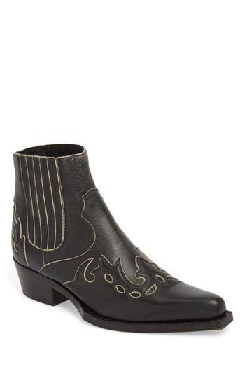 Calvin Klein Cal Calvert Cowboy Boot, Black
