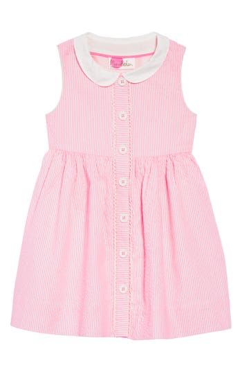 1940s Children's Clothing: Girls, Boys, Baby, Toddler Toddler Girls Mini Boden Nostalgic Collar Dress Size 3-4Y - Pink $52.00 AT vintagedancer.com