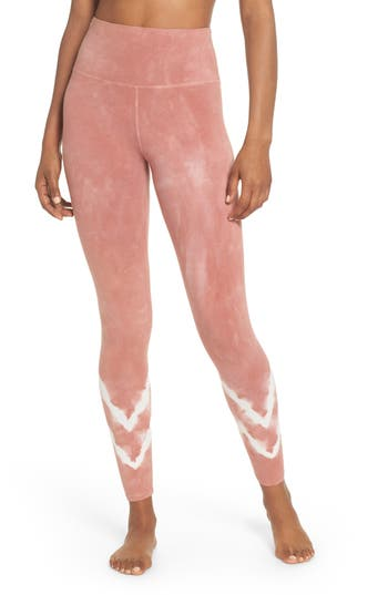 Electric & Rose Sunset Tie Dye Leggings, Pink