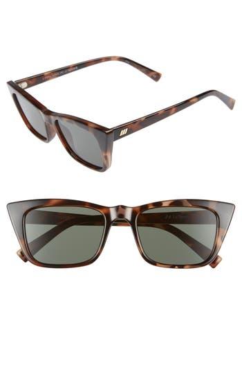 Le Specs I Feel Love 51Mm Cat Eye Sunglasses - Volcanic Tortoise