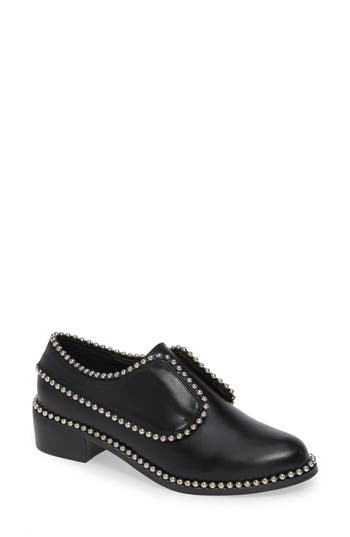 Matisse Alexa Beaded Laceless Derby- Black