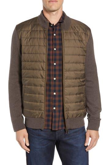 Barbour Carn Baffle Front Knit Jacket, Beige