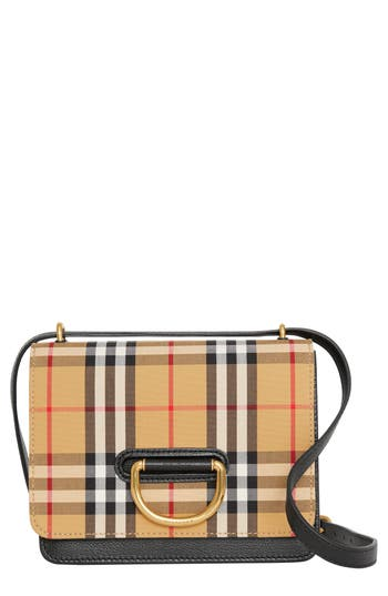 Burberry Small D-Ring Leather Crossbody Bag - Beige