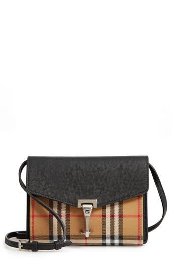 Burberry Baby Macken Vintage Check Crossbody Bag - Black