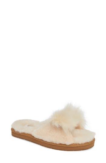 Ugg Mirabelle Genuine Shearling Slide Slipper, Beige